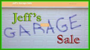 Jeff's Garage Sale